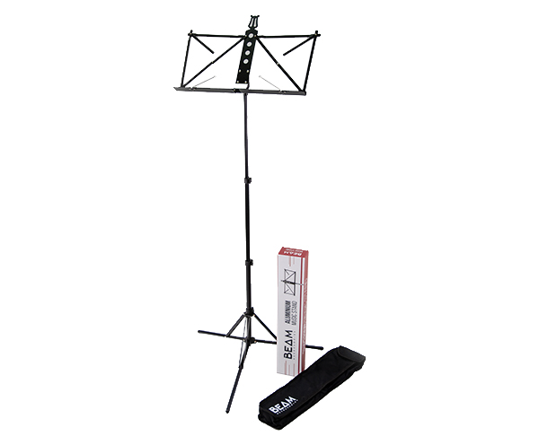 BEAM Music Stand-Aluminium Deluxe w/Bag Black BM6
