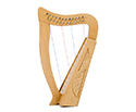 Baby Harp - 12 String Carved w/Bag