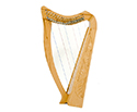 Standing Pixie Harp - 19 String Carved w/Bag