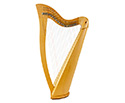 Folk Harp 22 String Carved with Bag