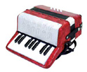 Piano Accordion 17Key/8Bass-Assorted Colours