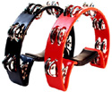 Tambourine- Half Moon Shape-Red