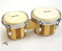 Bongos-Wooden Tunable Two Tone Natural