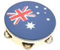 Tambourine-w/Head 8in (Aussie Flag)