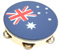 Tambourine-w/Head 10in (Aussie Flag)