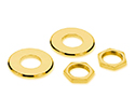 Schaller Straplock  Nut/Washer Kit (4pc) Gold