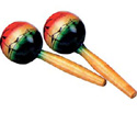 Maraca Set-Wooden-Tropical 80mm width