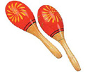 Maracas Set- Patterned Plastic-Asstd