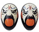 Egg Shakers-Chinese Opera Face Shakers Red A
