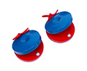 Hand Castanets- Wooden (Red/Blue)