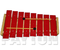 Glockenspiel-Diatonic 8 Red Notes C-C