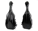 HQ Polycarbonate Double Bass Case - Brushed Black 3/4 14.5kg