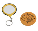 Key Ring Mirror-Yellow w/Piano