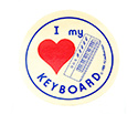 Stickers (Pack of 10)  I Love Keyboard
