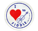 Stickers (Pack of 10) I Love To Fiddle