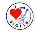 Stickers (Pack of 10) I Love My Violin