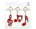Key Ring Set(3Pc)Clef/Quav/Semi Red