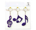 Key Ring Set(3Pc)Clef/Quav/Semipurp