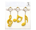 Key Ring Set(3Pc)Clef/Quav/Semiyell