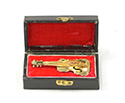 Brass Miniature In Case-Violin 5cm