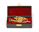 Brass Mini Instrument. Cornet 9cm