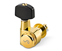 Schaller M6-PIN Rearlocking Machines 3/3-Gold w/Ebony. Pin