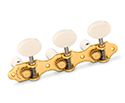 Schaller GrandTune Classic Hauser SatinGold/Galalith White rollers
