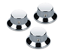 Schaller Guitar FS Knobs (Set Of 3) Chrome 182-15010200