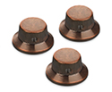 Schaller Guitar FS Knobs (Set of 3) VintageCopper