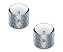 Schaller Guitar Dome Knurled Knobs (Set Of 2) Chrome 176-15020200