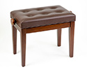 Piano Bench-Adjustable. Buttoned Seat. Matt Walnut