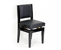 Piano Chair-Adjustablle. With Backrest- Black