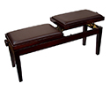 Piano Bench-Duet. Dual Adjustable. Mahogany