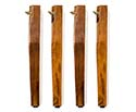 Spare Straight Leg (Set of 4) - Walnut Gloss