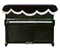 Piano Cover -Upright-Top-Black