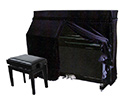 Piano Cover -Upright-Full-Black UP4