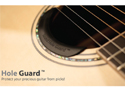 Acoustic Guitar HoleGuard-For Soundhole-Transparent
