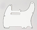 Electric Guitar Pickguard-Pickboy T-type 1Ply White