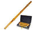 Irish Flute-Cocuswood 5-Part & Key w/Case