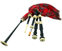 Bagpipes Set-Black Cocuswood Imit/Iv Mounts