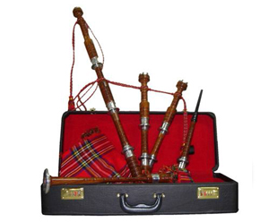 Bagpipes Set-Rosewood with Nickel Mounts