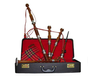 Bagpipes Set-Dark Cocuswood with Aluminium Mounts