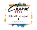 CHARM Cello Set-Chrome/Tungsten 3/4