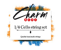 CHARM Cello Set-Chrome/Tungsten 1/4
