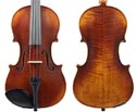 Raggetti RV7AE Violin Only-Distressed Dark Red Brown 4/4