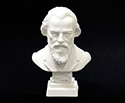 Bust 11cm-Crushed Marble Brahms