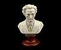 Bust 15cm-Crush Marble Chopin.Patina