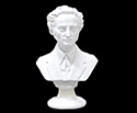 Bust 22cm-Crushed Marble Chopin
