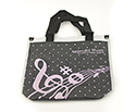 Music Carry Bag-Tall Pink Clef/Stav