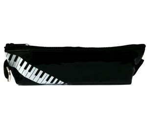 Pencil Case-Black w/Piano Keys